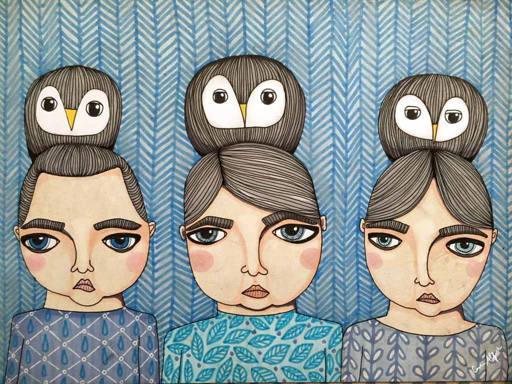 sisters-owls-illustration-portrait