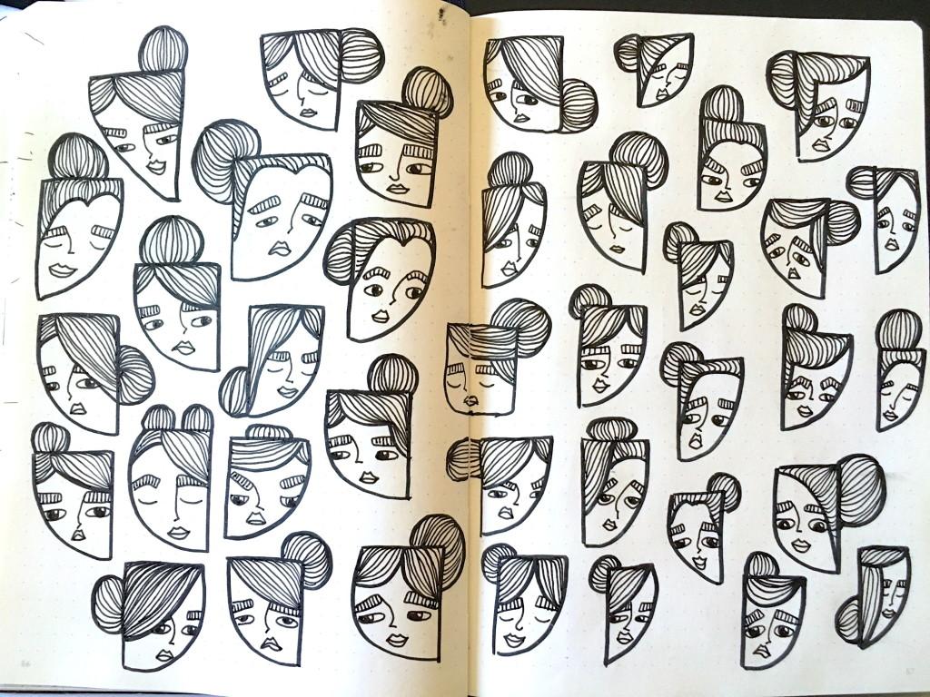 full-spread-sketchbook-doodle-lineart
