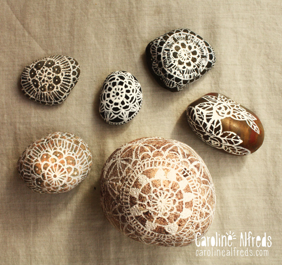 painted-rocks-lace-doily-pattern