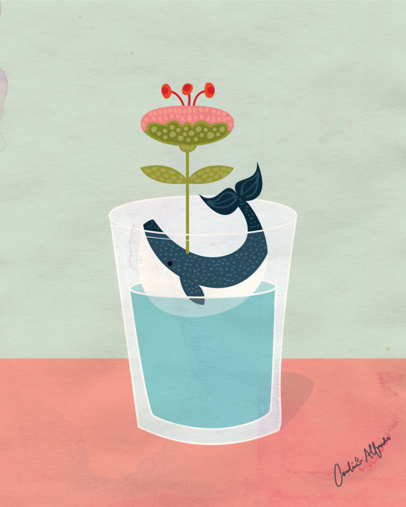 whale-in-glass-with-flower-illustration-carolinealfreds