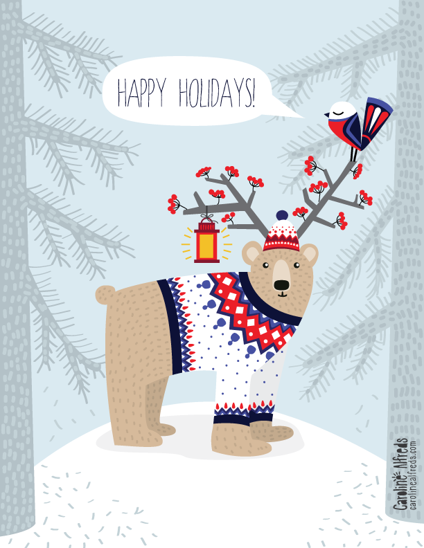 whimsical-bear-in-sweater-illustration